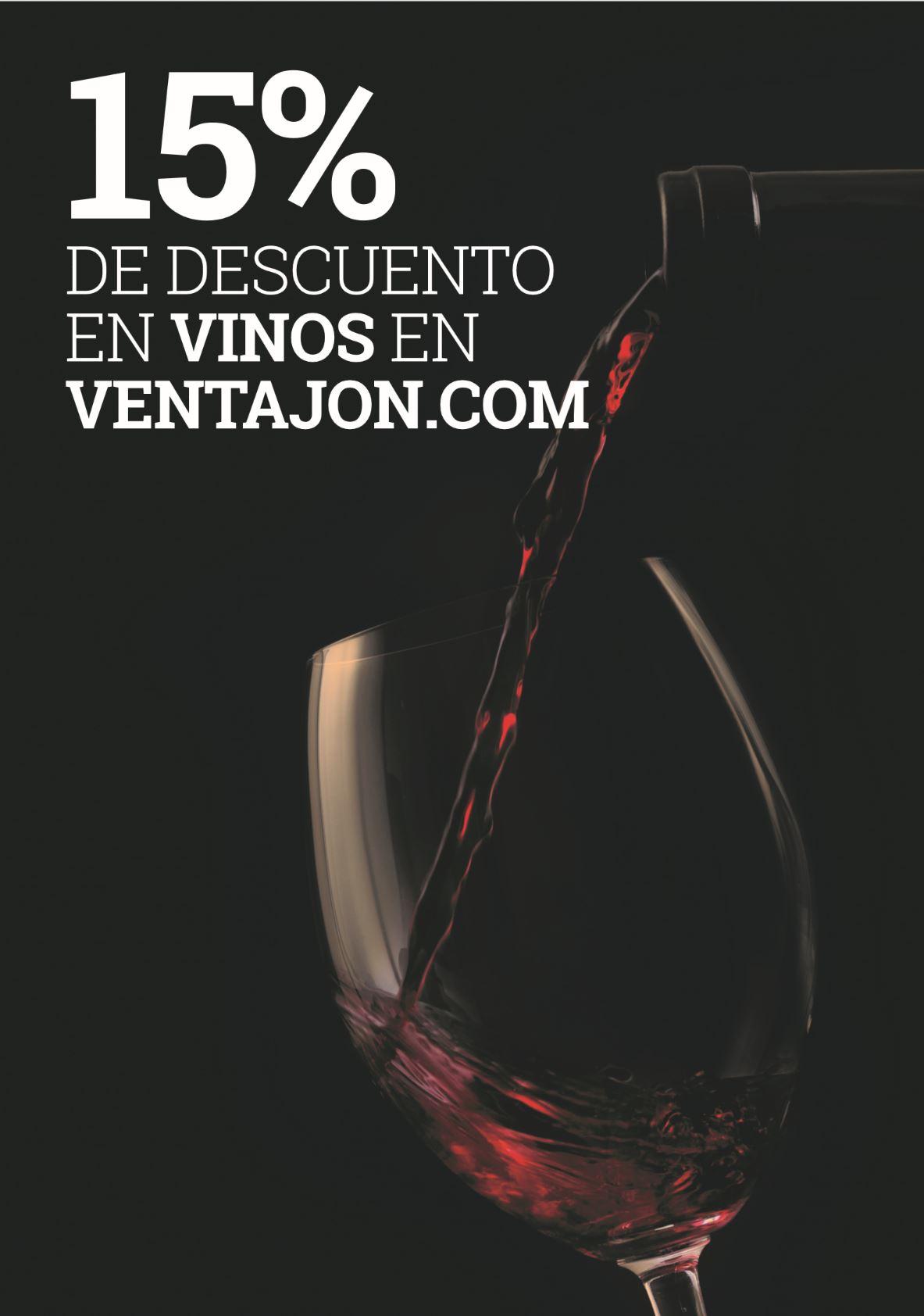 Descuento en vinos en la tienda online VENTAJON